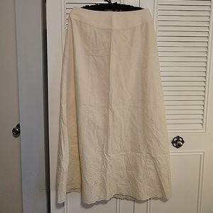 Liz Claiborne eyelet lace skirt